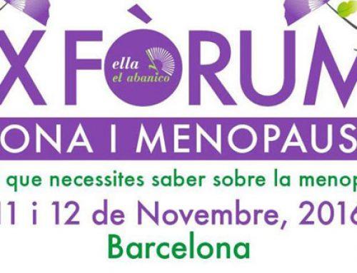IX Fórum Dona i Menopausia · Días 11 y 12 de Noviembre en Barcelona